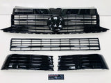 T6 Gloss Black Upper & Lower Grilles With Badge 2015 Onwards NEW