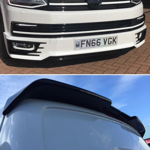 T6 Sportline Lower Spoiler & Twin Rear Spoiler