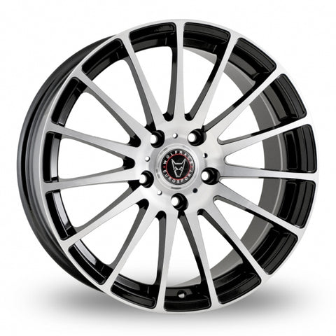 "WOLFRACE TURISMO 18"" WHEEL & TYRE PACKAGE (BLACK & POLISHED)"