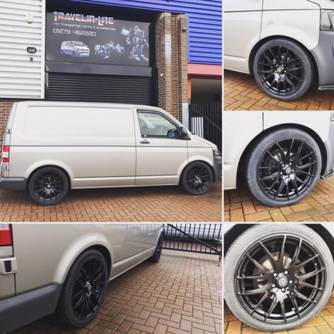 "T5 T5.1 T6 Wolfrace 20"" Munich Wheel & Tyre Package 255 40 20 FREE GIFTS"