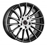 "WOLFRACE AERO 20"" WHEEL & TYRE PACKAGE (BLACK POLISHED)"
