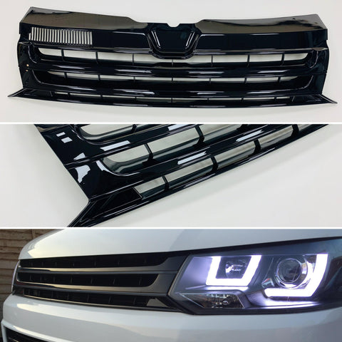 T5.1 Badgeless Grille Black Edition Transporter 10-15 NEW