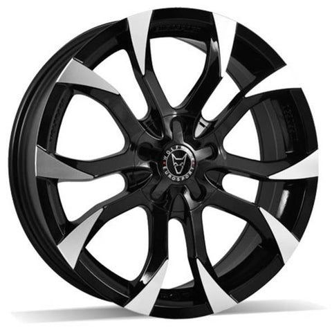 "WOLFRACE ASSASSIN 20"" WHEELS (GLOSS BLACK POLISHED)"