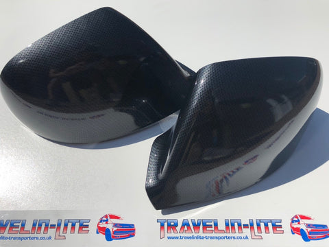 T5.1 T6 Carbon Fibre Mirror Caps Pair