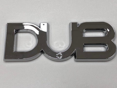 Dub Edition Badge - Chrome