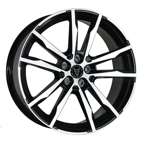 "WOLFRACE DORTMUND 20"" WHEELS (GLOSS BLACK POLISHED)"