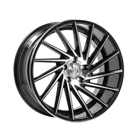 "Transporter 1AV ZX1 20"" wheels only black / polished"