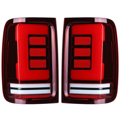 Amarok full LED rear lights with dynamic indicator RED / TINTED