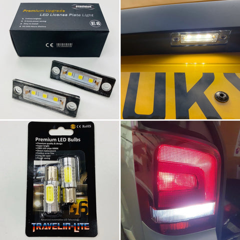 VW T5 / T5.1 Led reversing bulbs & LED license plate units