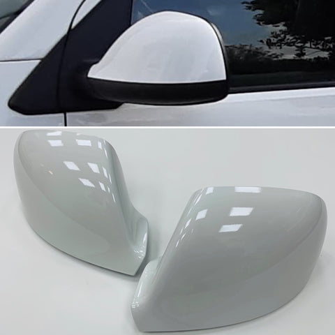 Amarok Candy White Mirror Covers / Caps Pair