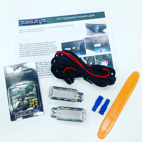 T5 T5.1 T6 T6.1 LED Footwell lights upgrade kit V2