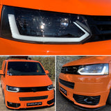 VW T5.1 Light bar headlights with dynamic indicator (New 2019 design)