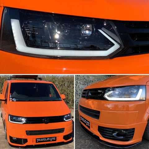 VW T5.1 Light bar headlights with dynamic indicator (New 2019 design) PRE ORDER