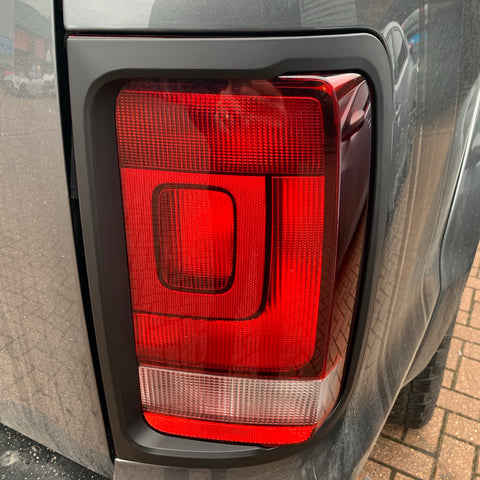 Amarok rear light trims in matte black