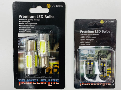 T6 LED DRL Headlight Bulbs & LED Sidelight Bulbs