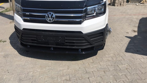 VW Crafter Gloss Black Bumper Splitter 18 Onwards