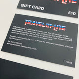Travelinlite Gift Cards £10 £20 £50