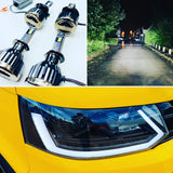 VW T5.1 DRL headlights with dynamic side repeaters and full led headlight bulbs