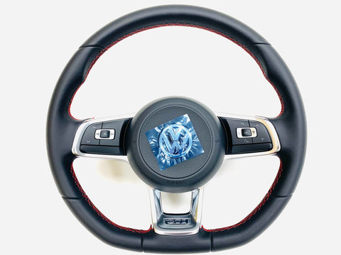 Golf MK7 multi function steering wheel (GTi with red stitching)