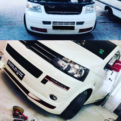 T5 - T5.1 Premium facelift kit abt style lower spoiler (OEM style headlights)
