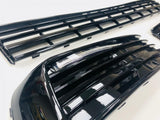 T6 Lower Grille & Light Bar Drl Kit Painted Gloss Black 15 Onwards NEW