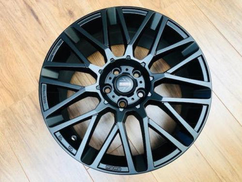 "Momo 18"" Revenge Alloy Wheels Black For T5 T5.1 T6 Transporter Load Rated"