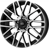 "MOMO 20"" REVENGE ALLOY WHEELS BLACK/POLISHED FOR T5 T5.1 T6"