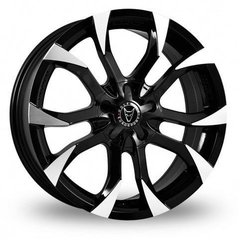 "WOLFRACE ASSASSIN 18"" WHEEL & TYRE PACKAGE (BLACK & POLISHED)"