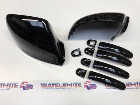 T5.1 T6 Gloss Black Mirror Caps & Handle Covers