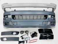 T5.1 Front & Rear Smooth Primed Bumpers, Light Bar DRL KIt, LED Fog Kit 10 -15