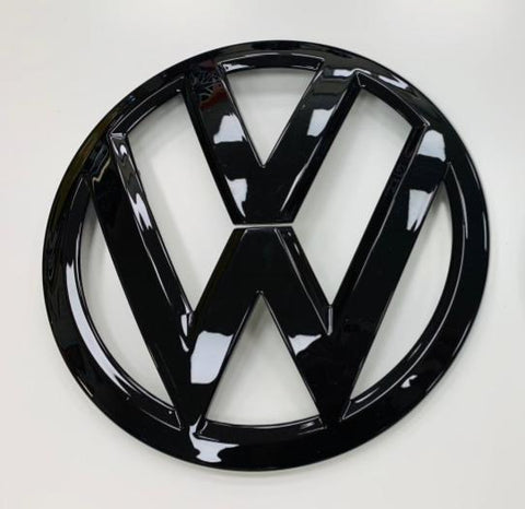 VW T6 Gloss black front grille badge.