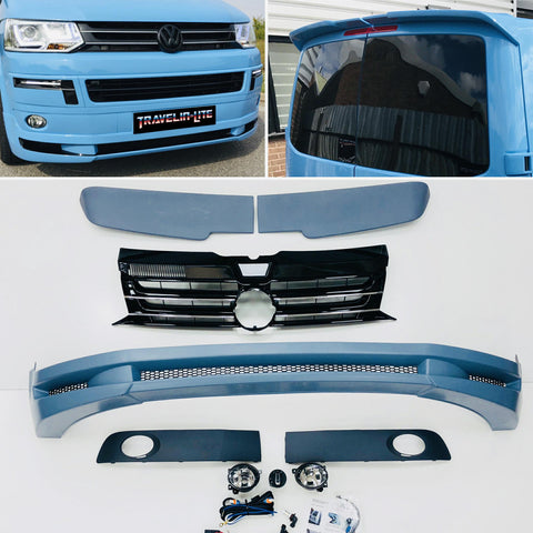 T5.1 Abt Style Splitter, Sportline Grille, Led Fog Light Kit, Twin Spoiler