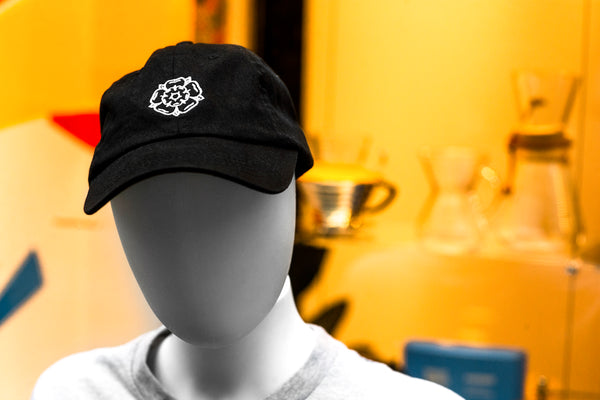 Rose Dad Cap Black