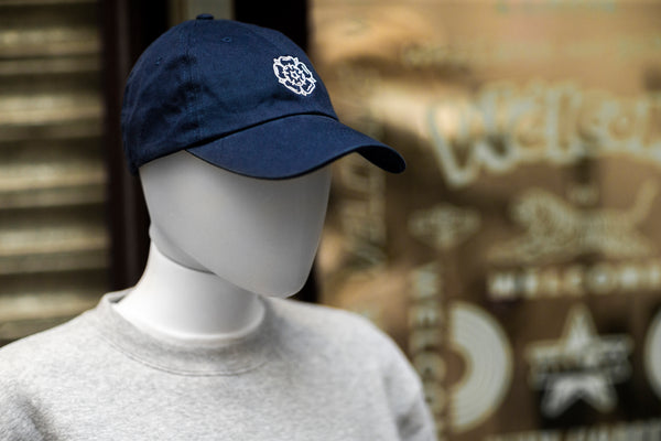 Rose Dad Cap Navy