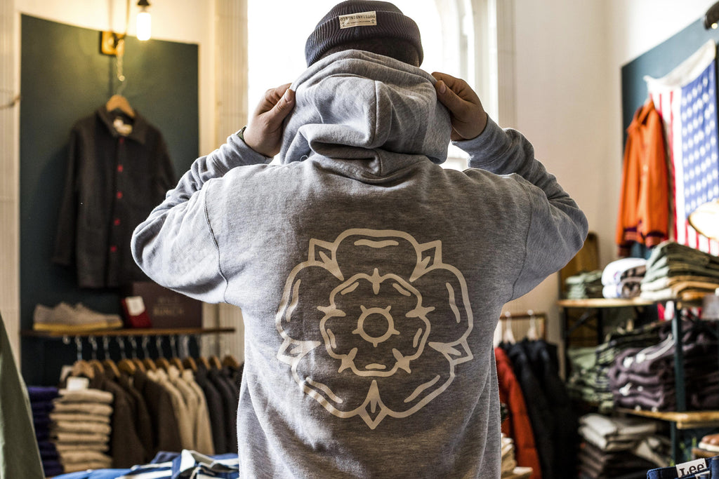 Rose Hooded Sweatshirt Heather Grey
