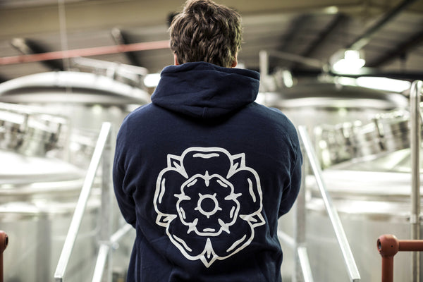 Rose Hooded Sweatshirt Navy