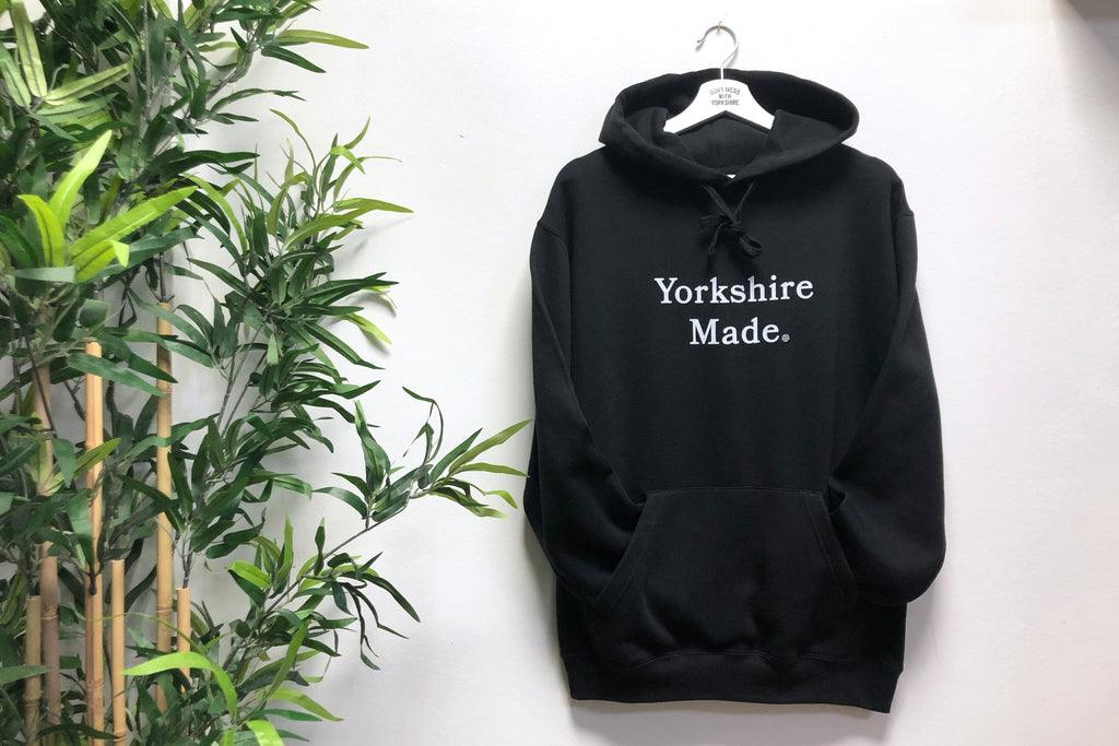 Yorkshire Made Hooded Sweatshirt Black