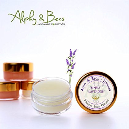 Natural Solid Perfume for Women - No.3 SIMPLY LAVENDER in a Pot - 10 ml