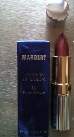 Marbert Timeless Lipstick Lip Color 16 Pure Brown