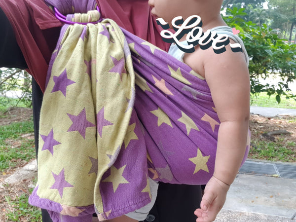 Yaro Stars Purple Ring Sling (Pre-loved)