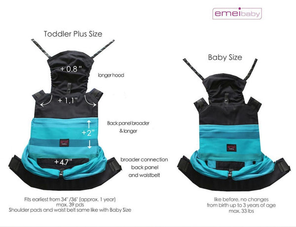 Emeibaby Hybrid Toddler Plus Carrier Full SoMandala Turqoise