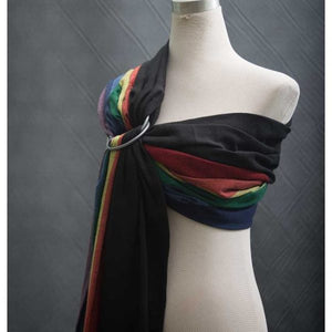 Bebe Sachi Ring Sling – Black/Rainbow
