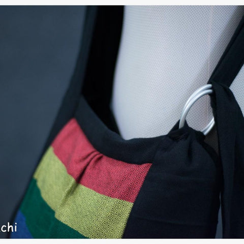 Babywearing Bag - Black Rainbow