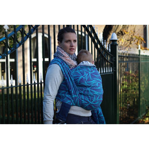 Yaro Magnetic Contra Violet Aqua-Green Ring Sling
