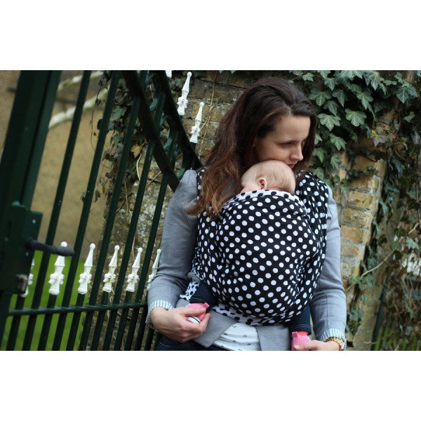 Yaro Polka Dots Black and White Woven wrap