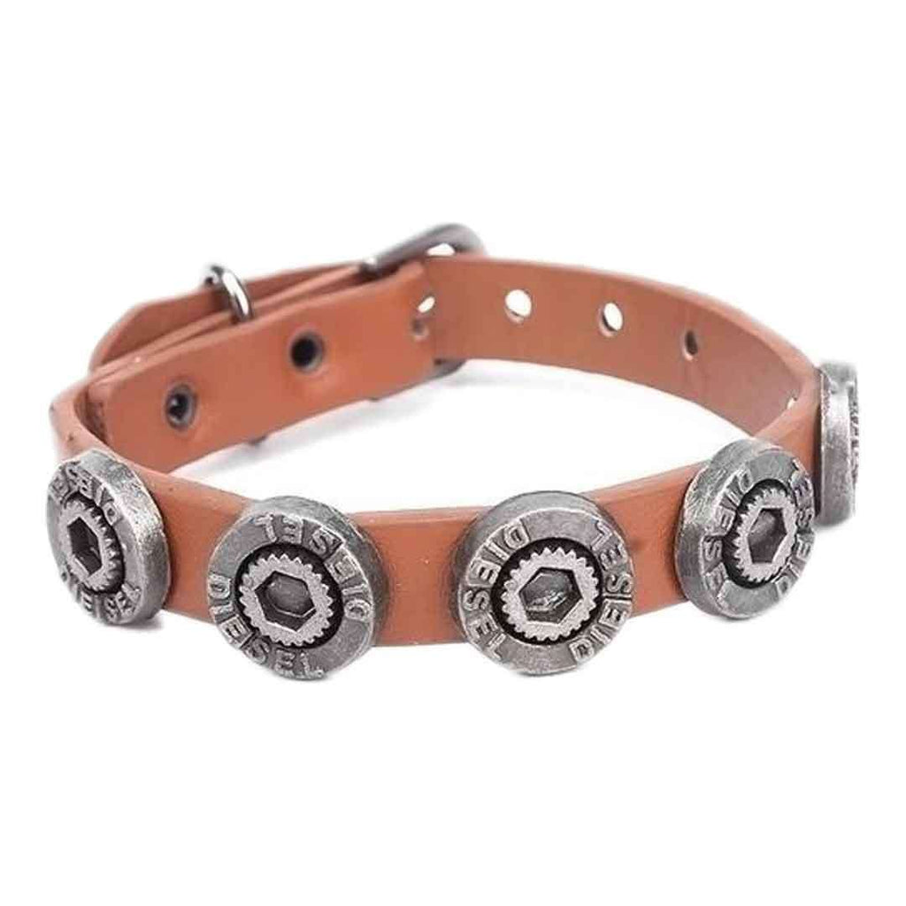 Brown Leather Stylish Bracelet JP 1500