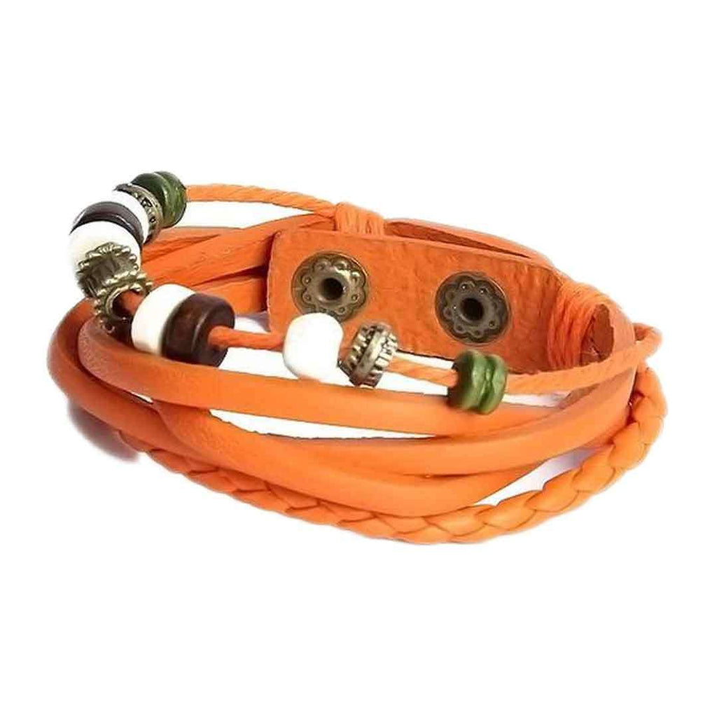 100 Degreez Orange Leather Bracelet JP 1512