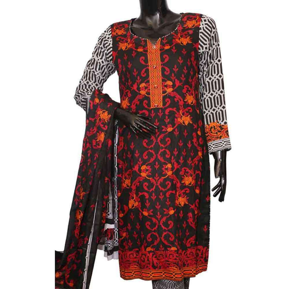 Women's Venezaa Nimra Body Print Lawn Unstitched Suit