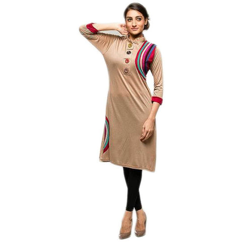 Fawn Front Botton Ladies Kurti