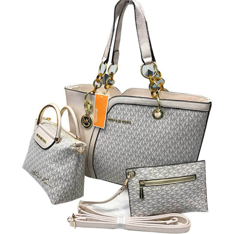 Leather Ladies Mk Silver  Hand Bag